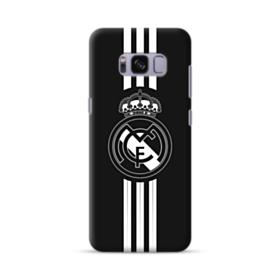 Real Madrid Team Logo Black White Samsung Galaxy S8 Case
