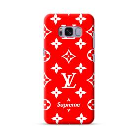 Classic Red Louis Vuitton Monogram x Supreme Logo Samsung Galaxy S8 Case