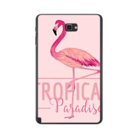 Tropical Bird Flamingo Drawing Samsung Galaxy Tab A 10.1 S-Pen Version Case
