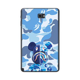Bearbrick Wearing Blue Camo Samsung Galaxy Tab A 10.1 S-Pen Version Case