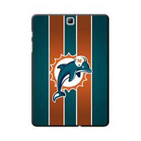 Miami Dolphins Team Logo Mascot Vertical Stripes Samsung Galaxy Tab A 9.7 Case