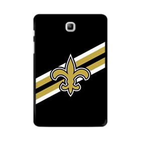 New Orleans Saints Logo Diagonal Stripes Samsung Galaxy Tab A 8.0 Case