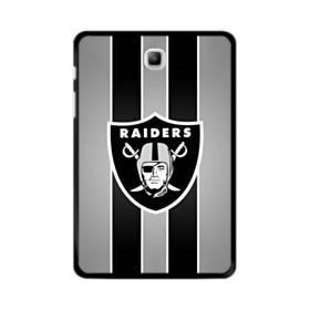 Oakland Raiders Team Logo Vertical Stripes Samsung Galaxy Tab A 8.0 Case