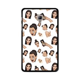 Kim Kardashian Emoji Kimoji seamless Samsung Galaxy Tab A 8.0 (2017) Case