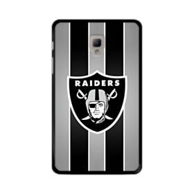 Oakland Raiders Team Logo Vertical Stripes Samsung Galaxy Tab A 8.0 (2017) Case