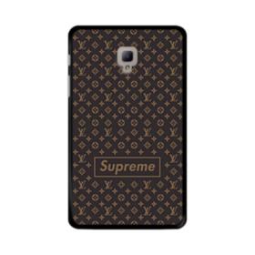Classic Louis Vuitton Brown Monogram x Supreme Logo Samsung Galaxy Tab A 8.0 (2017) Case