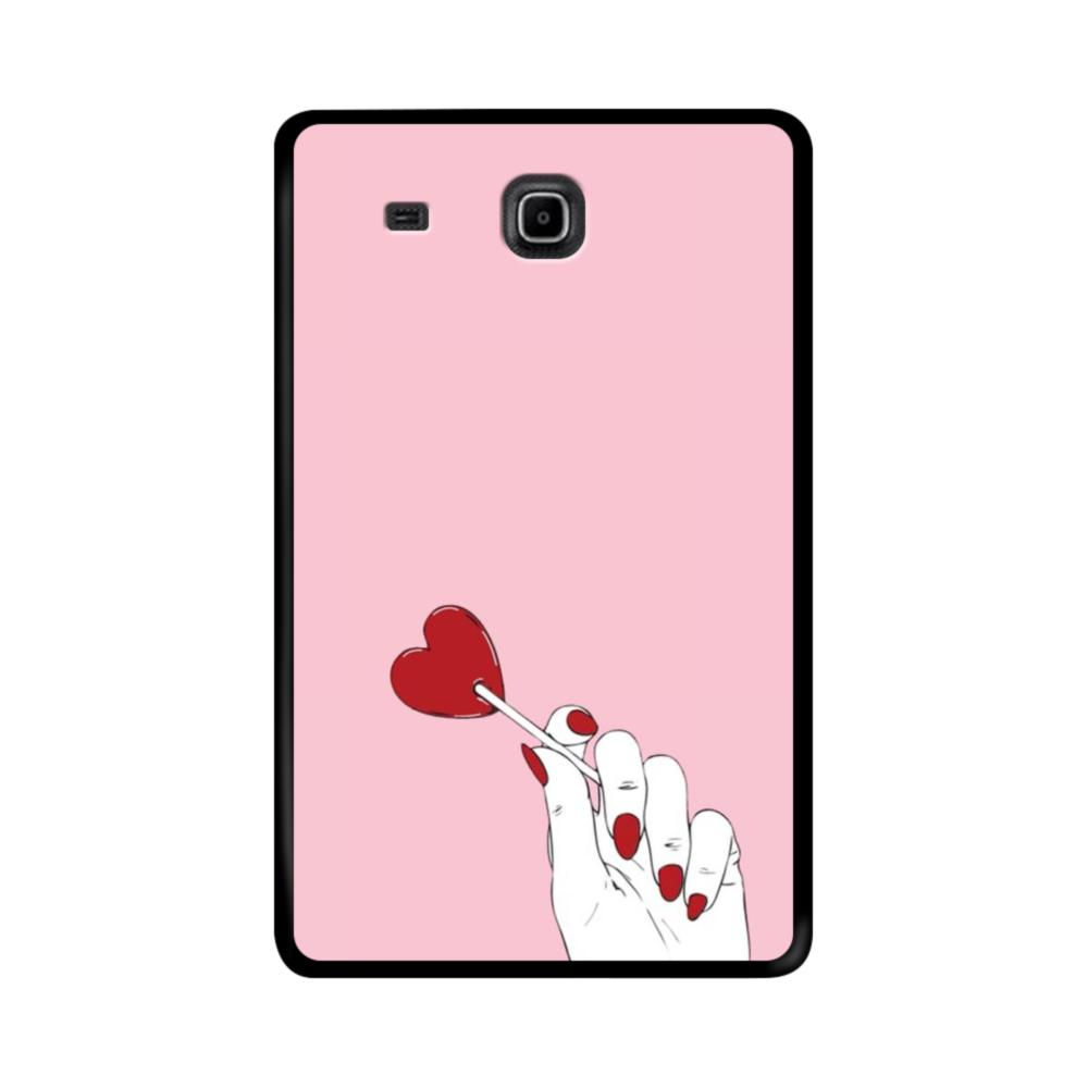 Red Heart Lollipop Samsung Galaxy Tab E 9 6 Case