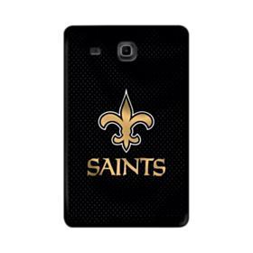 New Orleans Saints Team Logo Dots Black Samsung Galaxy Tab E 9.6 Case