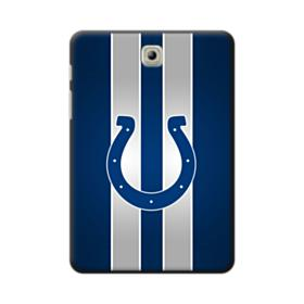 Indianapolis Colts Logo Vertical Silver Stripes Samsung Galaxy Tab S2 8.0 Case
