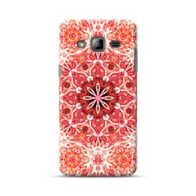 Red mandala flower Samsung Galaxy J3 (2016) Case