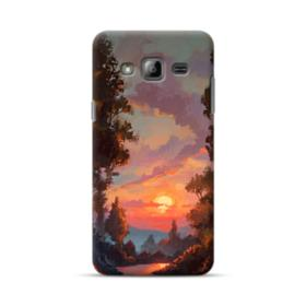 Sunset And Forest Landscape Oil Painting  Samsung Galaxy J3 (2016) Case