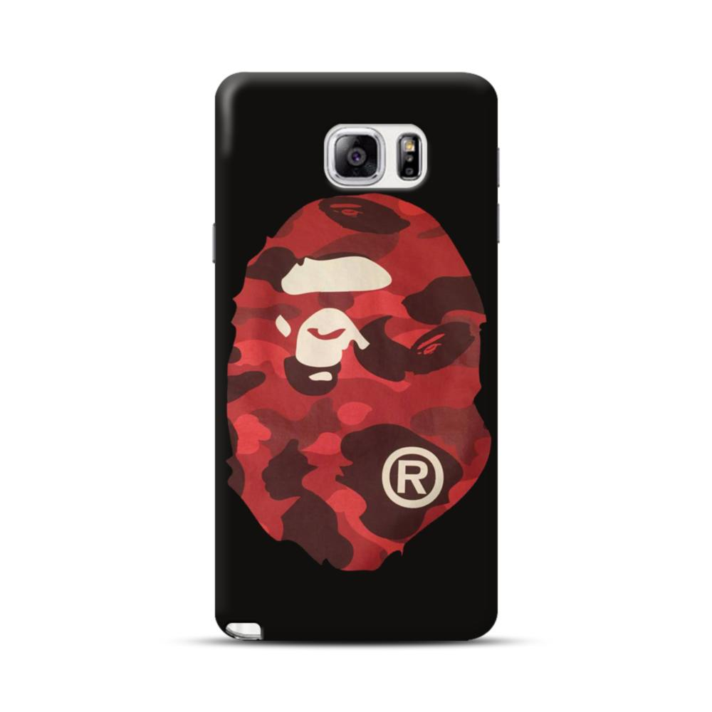 competitive price 9220d 500c7 Bape Camo Red Logo Samsung Galaxy Note 5 Case