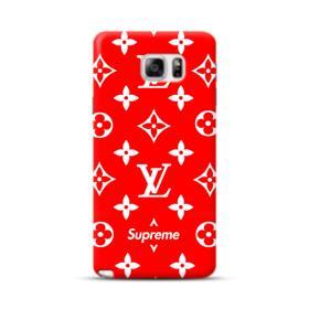 Classic Red Louis Vuitton Monogram x Supreme Logo Samsung Galaxy Note 5 Case