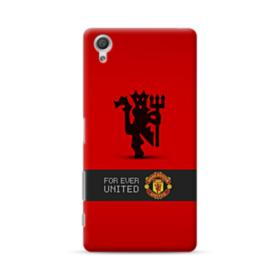 Manchester United Team Logo Red Devil Banner Sony Xperia X Performance Case