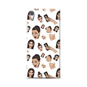 Kim Kardashian Emoji Kimoji seamless Sony Xperia XA1 Plus Case