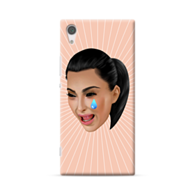 Crying Kim emoji kimoji Sony Xperia XA1 Plus Case