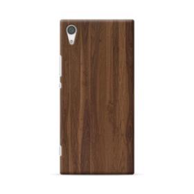Dark Walnut Wood Sony Xperia XA1 Plus Case