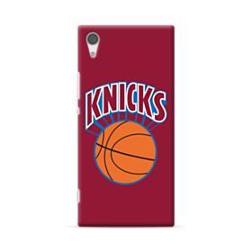 New York Knickerbockers Team Logo Red Sony Xperia XA1 Plus Case