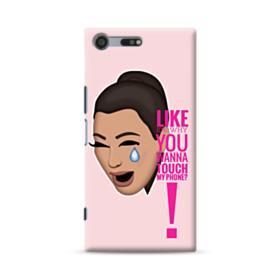Crying Kim emoji kimoji meme  Sony Xperia XZ Premium Case
