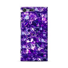 Purple Diamond Glitter Sony Xperia XZ Premium Case