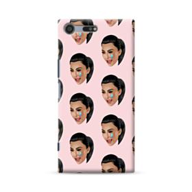 Crying Kim emoji kimoji seamless Sony Xperia XZ Premium Case