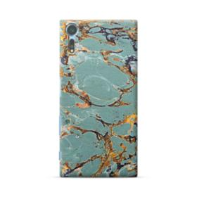 Blue & Gold Marble Sony Xperia XZs Case