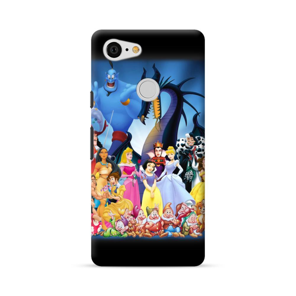 big sale 1f202 2a649 Disney Animated Cartoon Characters Google Pixel 3 Case