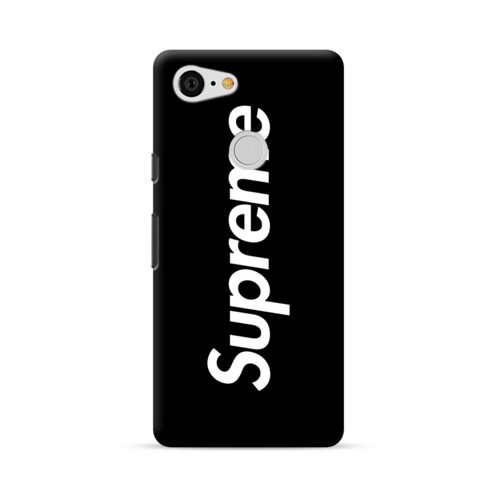 buy online 10fd9 0d5ed Supreme Black Cover Google Pixel 3 Case