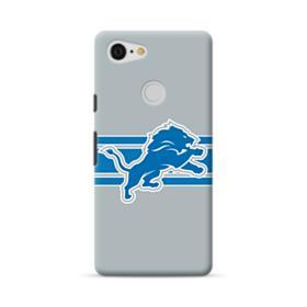 Detroit Lions Gray Stroke Google Pixel 3 Case