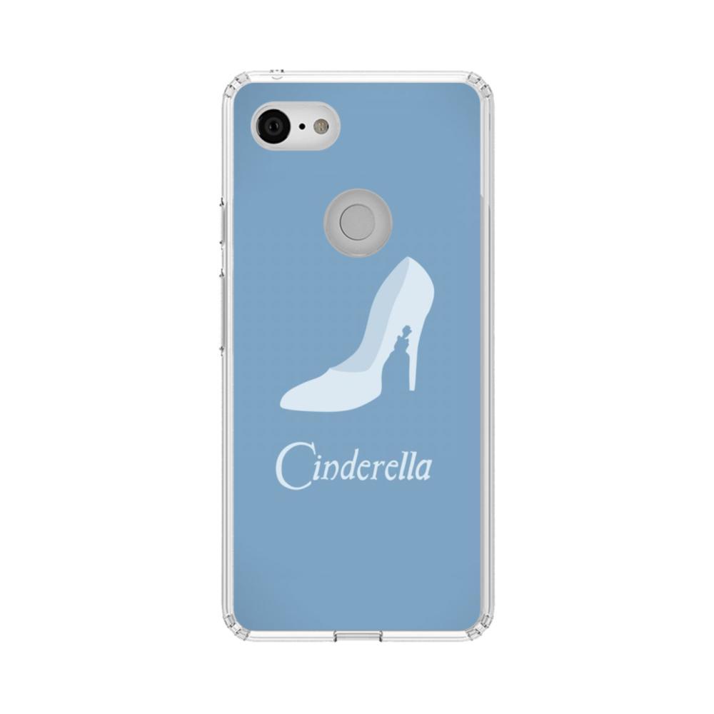 newest b9c10 b5473 Minimalistic Cinderella Disney Google Pixel 3 Clear Case