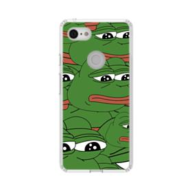 Sad Pepe frog seamless Google Pixel 3 Clear Case