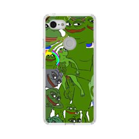 Rare pepe the frog seamless Google Pixel 3 Clear Case