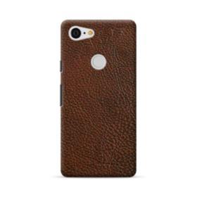 Dark Brown Leather Google Pixel 3 XL Case