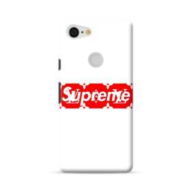 Louis Vuitton Monogram x Supreme Logo Google Pixel 3 XL Case
