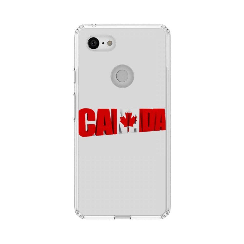 super popular cf6e3 29eab Canada Maple Leaf Google Pixel 3 XL Clear Case