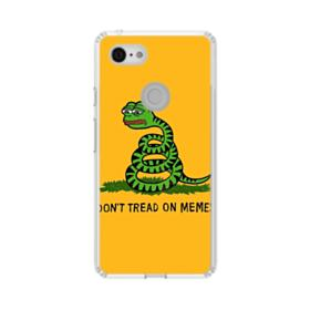 Pepe the frog don't tread on memes Google Pixel 3 XL Clear Case
