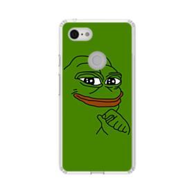 Smug Pepe Frog Funny Meme Google Pixel 3 XL Clear Case