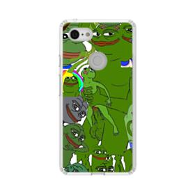 Rare pepe the frog seamless Google Pixel 3 XL Clear Case