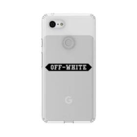 Off White Banner Google Pixel 3 XL Clear Case