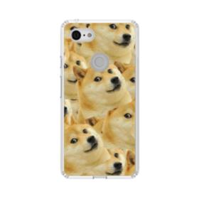 Doge meme seamless Google Pixel 3 XL Clear Case