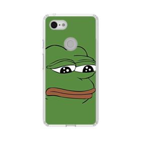Sad Pepe frog Google Pixel 3 XL Clear Case