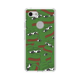 Sad Pepe frog seamless Google Pixel 3 XL Clear Case