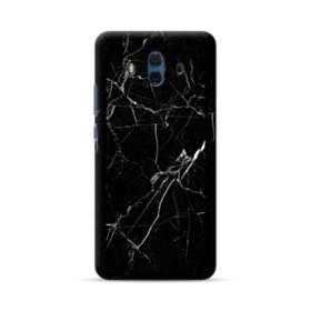 Black Marble White Veins Huawei Mate 10 Case