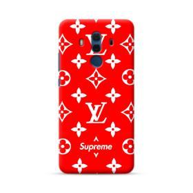 Classic Red Louis Vuitton Monogram x Supreme Logo Huawei Mate 10 Pro Case