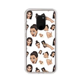 Kim Kardashian Emoji Kimoji seamless Huawei Mate 20 X Clear Case