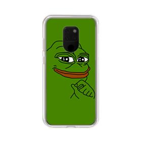 Smug Pepe Frog Funny Meme Huawei Mate 20 X Clear Case