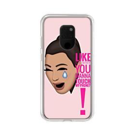 Crying Kim emoji kimoji meme  Huawei Mate 20 X Clear Case