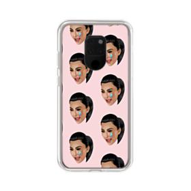 Crying Kim emoji kimoji seamless Huawei Mate 20 X Clear Case