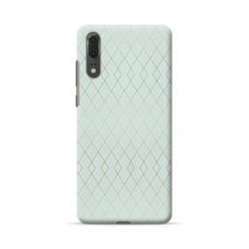 Geometric Polyline Pattern in Mint Green Huawei P20 Case