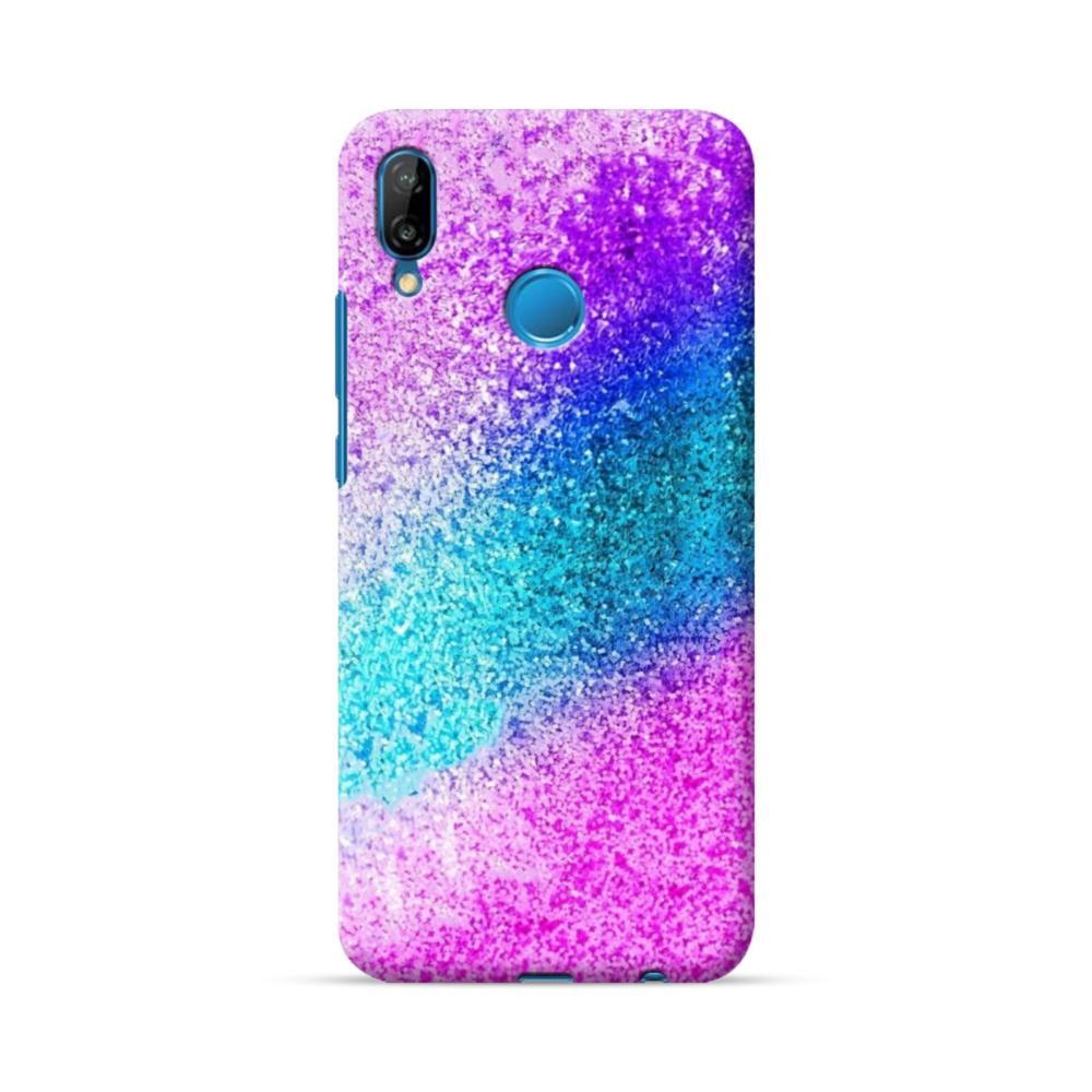 Rainbow Glitter Huawei P20 Lite Case